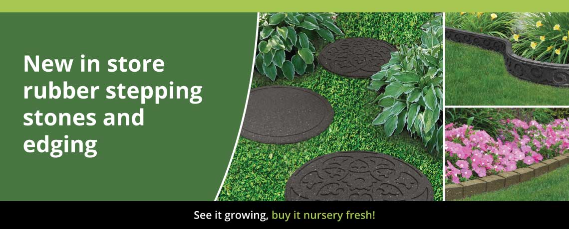 Rubber stepping stones & lawn edging